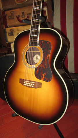 Circa 2007 Guild F-512R 12 String Jumbo Acoustic / Electric Sunburst