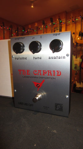 Pre-Owned circa 2016 Wren and Cuff The Caprid Fuzz Pedal Red & Chrome w/ Original Box