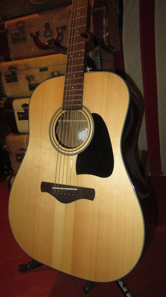 Pre Owned Circa 2017 Ibanez AW58E Acoustic Electric Flattop Dreadnought Guitar