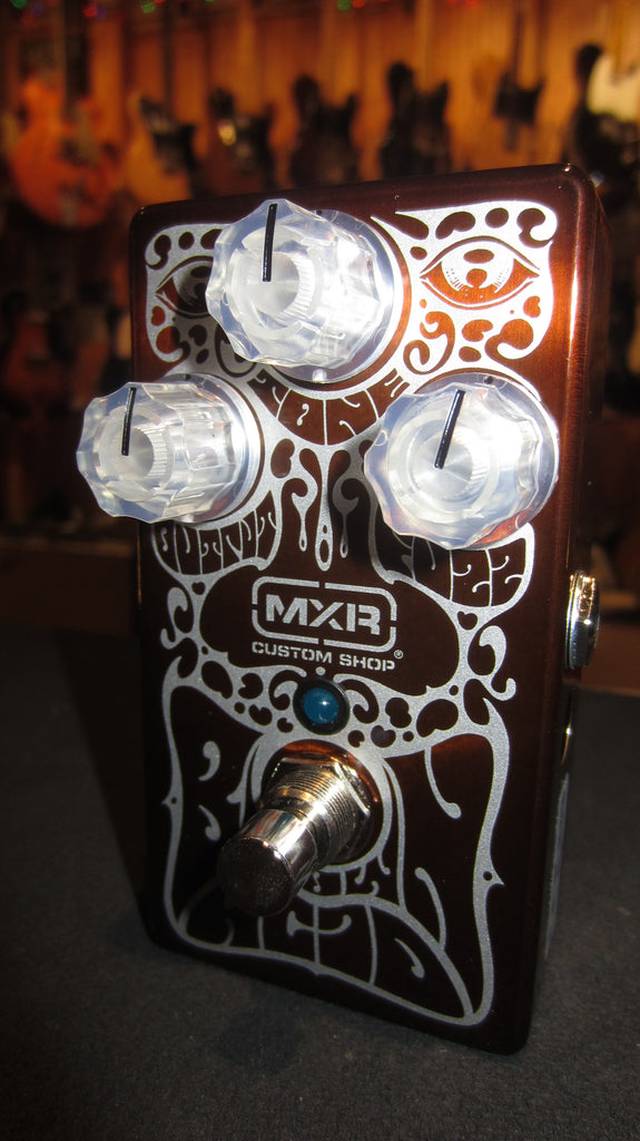 2019 MXR Brown Acid Fuzz Pedal Brown w/ Graphics by Alan Forbes