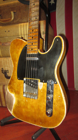 2020 Greg Adams Relic'd Guitars '52 Re-Issue Telecaster Blonde Relic