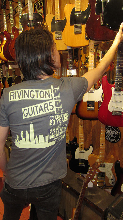 Rivington Guitars Limited Edition NYC T-Shirt (Grey)