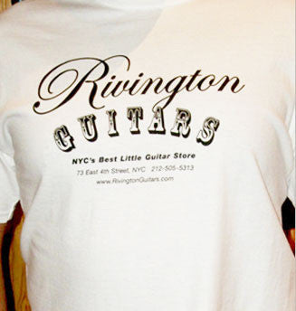 Rivington Guitars T-Shirt White (Logo Shirt)