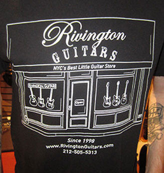 Rivington Guitars Tee-Shirt - New Storefront Logo Design (black)