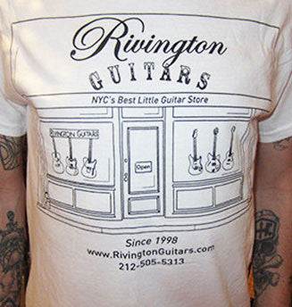 Rivington Guitars Tee-Shirt - New Storefront Logo Design (white)