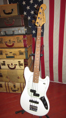 Preowned 2018 Fender Mustang PJ Bass White