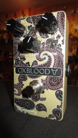 Keeley Oxblood Overdrive Paisley, Signed by Robert Keeley