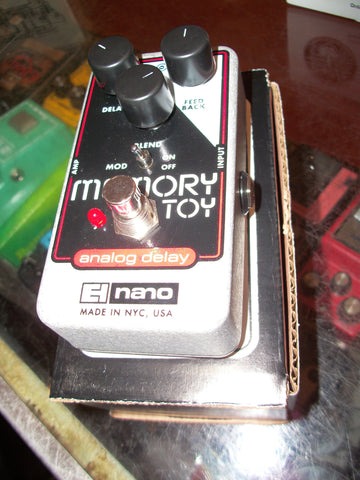 2019 Electro-Harmonix Memory Toy Analog Delay Black and Red and Chrome