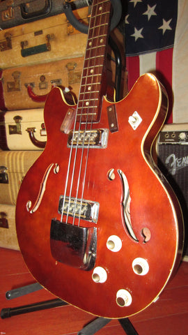 1972 Harmony H420 Hollowbody Bass