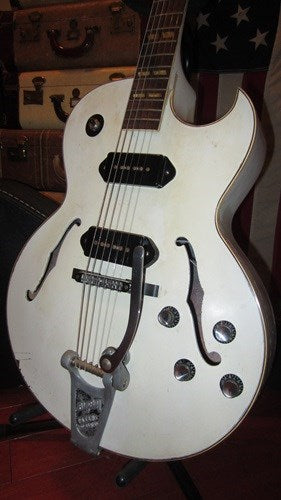 Vintage circa 1956 Gibson ES-175 refinished in white