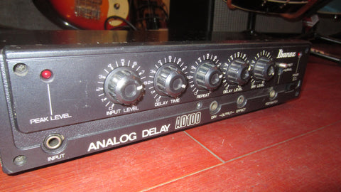 1983 Ibanez AD100 Analog Delay Black