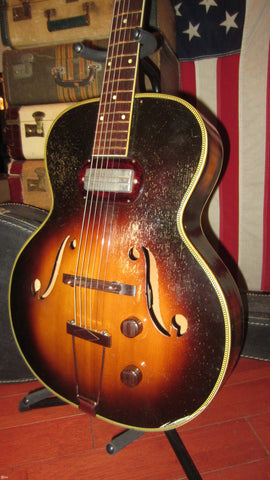 Circa 1957 Silvertone Model S1317 Archtop Electric w/ Gibson P-13 Pickup