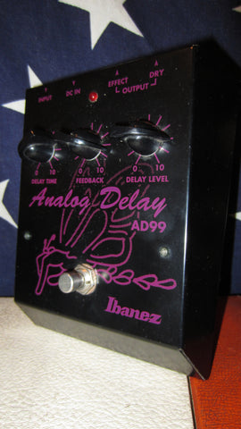 1993 Ibanez AD99 Analog Delay Black and Purple