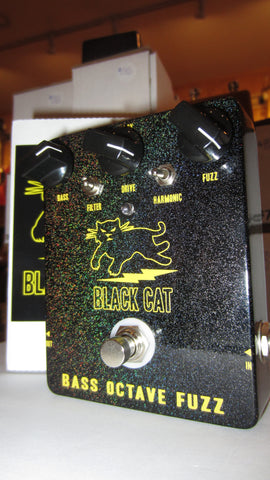 2014 Black Cat Bass Octave Fuzz Black Sparkle