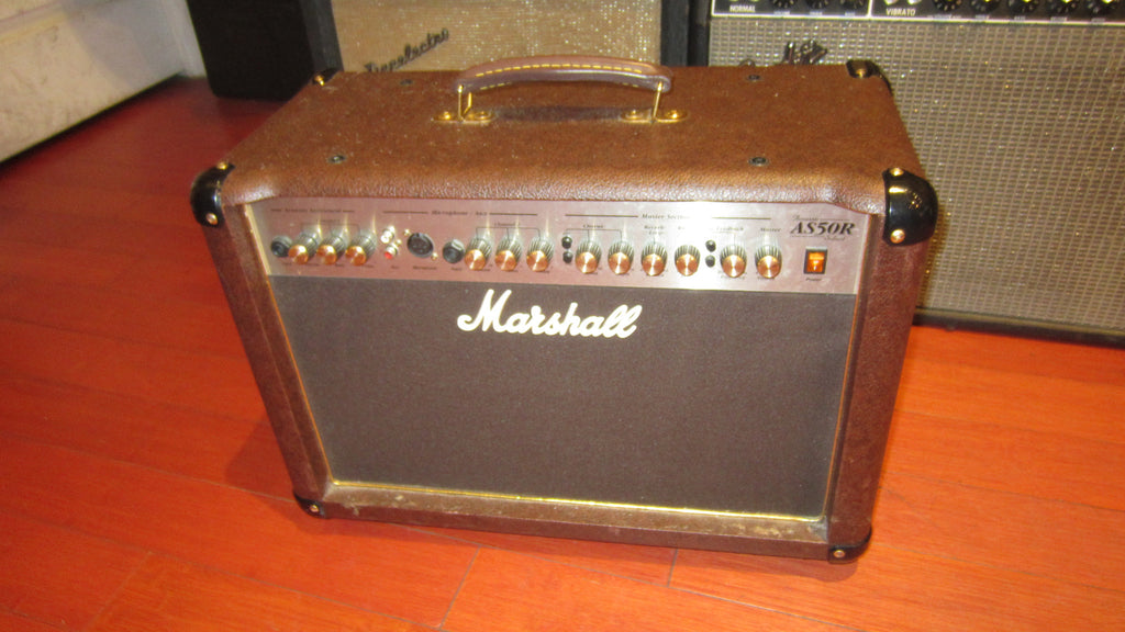 2013 Marshall AS50R Acoustic Guitar Amplifier Brown and Black