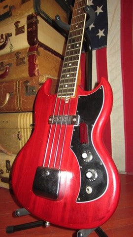 Vintage 1970's Kay K-1B Electric Bass Cherry Nice And Light