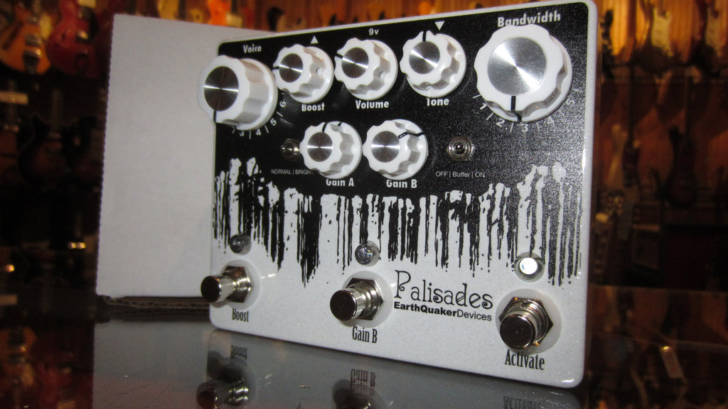 EarthQuaker Devices Palisades Overdrive White and Black