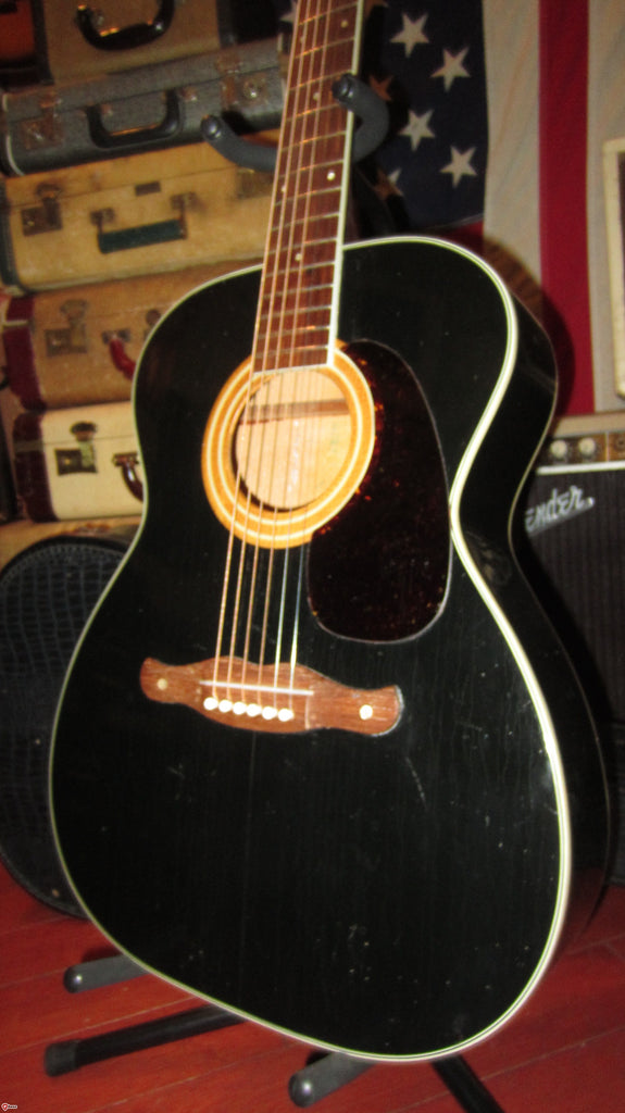 Vintage Circa 1969 Harmony Sovereign Flattop Acoustic Black Finish!