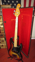 Vintage 1976 Fender Jazz Bass Sunburst w/ Original Case!