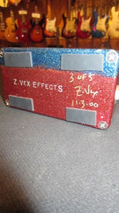 2000 ZVex Seek Wah Hand Painted Red & Blue Sparkle