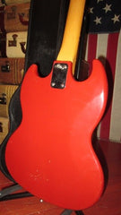 Vintage Original 1967 Kalamazoo KG-1 Electric Bass Stunning Red Finish