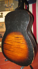 Circa 1964 Silvertone Parlor Guitar Small Bodied Acoustic
