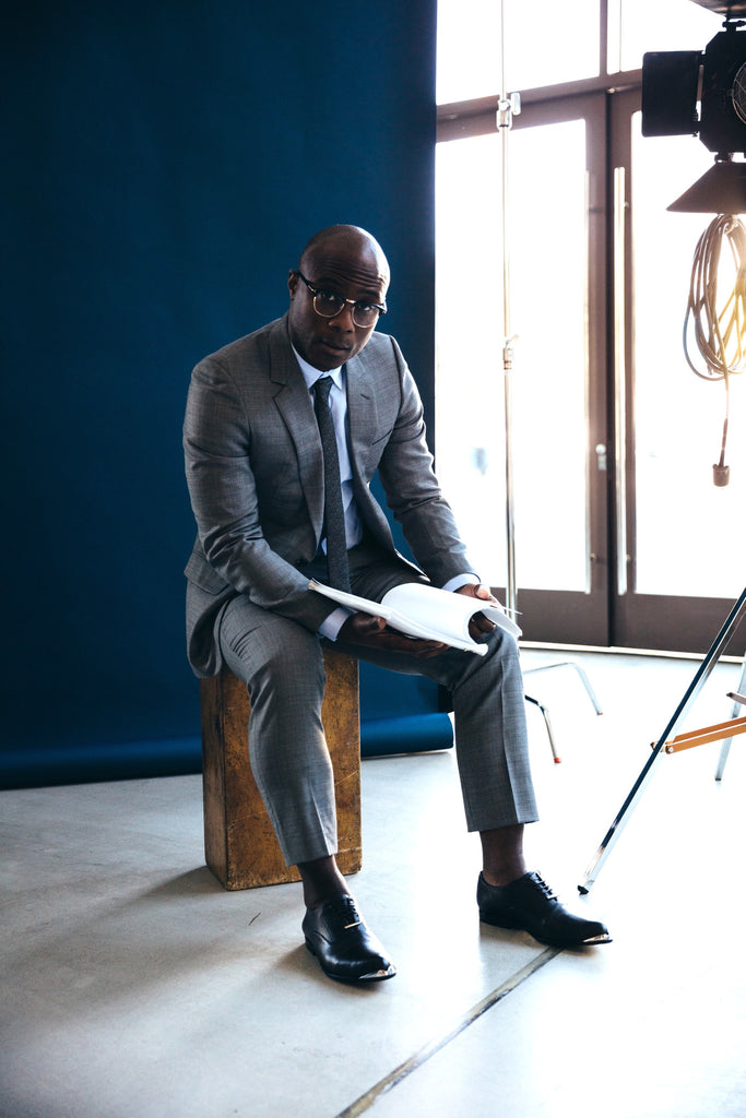 Moonlight director Barry Jenkins for Esquire Magazine wearing The Tycoon