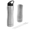 Hydracentials Stainless Steel Vacuum Insulated Water Bottle With Straw- 25 oz (Stainless Steel)
