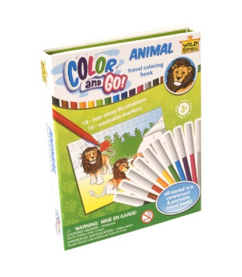 COLOR AND GO ANIMAL COLORING BOOK
