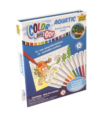 COLOR AND GO AQUATIC COLORING BOOK