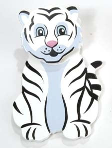 Wooden Magnetic Clip - White Tiger