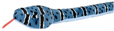 Big Head 70-Inch Plush Blue Rock Snake