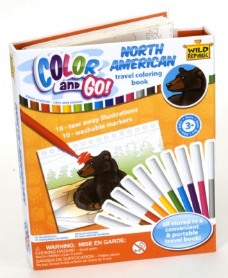 North American Color & Go Coloring Book