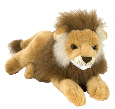 Male Lion (12-inch Laying Cuddlekins Stuffed Animal)