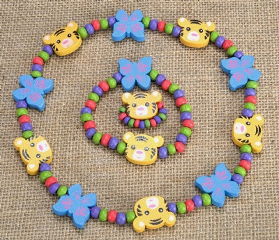 Kids Wooden Jewelry Set - Tiger