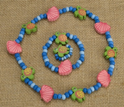 Kids Wooden Jewelry Set - Sea Turtle