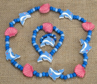 Kids Wooden Jewelry Set - Dolphin