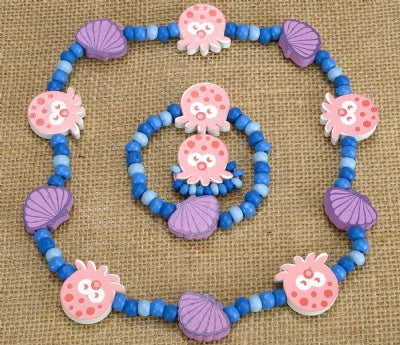 Kids Wooden Jewelry Set - Octopus