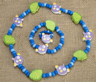 Kids Wooden Jewelry Set - Fish