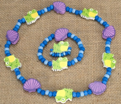 Kids Wooden Jewelry Set - Frog