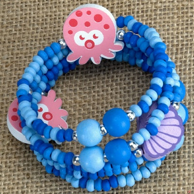 Kids Wooden Wrap Bracelet - Octopus