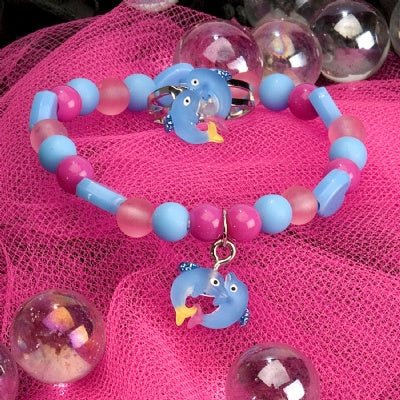 Kids Icon Ring/Bracelet Set - Dolphin