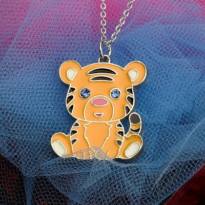 Kids Animal Pendant Necklace - Tiger