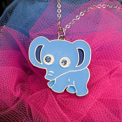 Kids Animal Pendant Necklace - Elephant