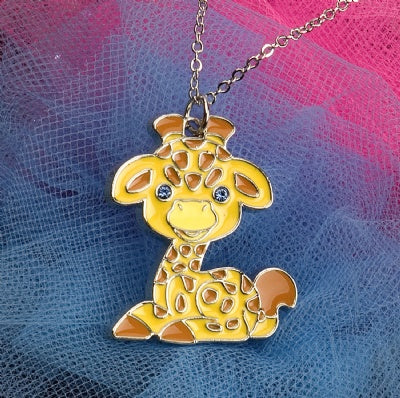 Kids Animal Pendant Necklace - Giraffe