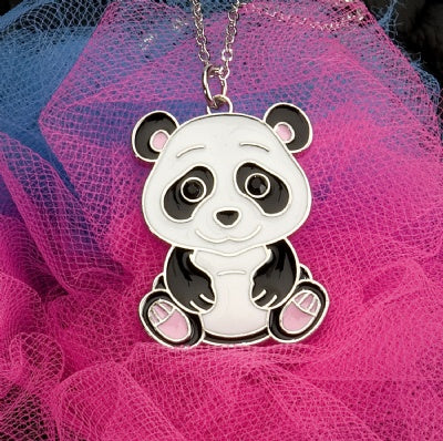 Kids Animal Pendant Necklace - Panda