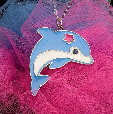 Kids Animal Pendant Necklace - Dolphin