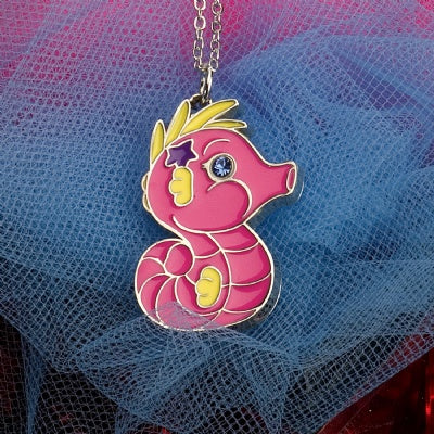 Kids Animal Pendant Necklace - Seahorse