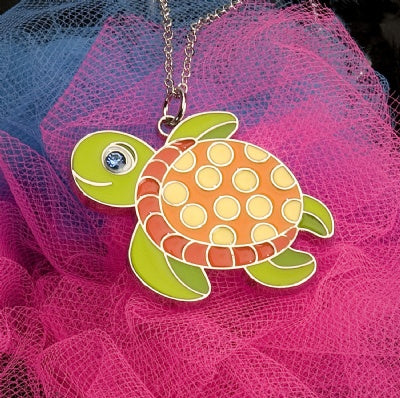 Kids Animal Pendant Necklace - Sea Turtle