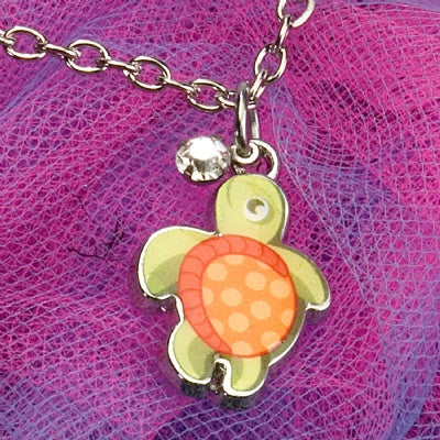 Kids Charm Necklace - Sea Turtle